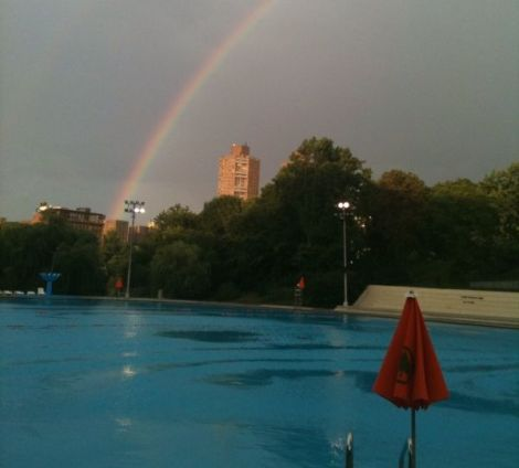 Rainbow over Lasker Pool, Central Park